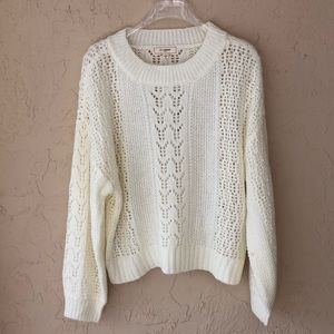 No Comment cropped winter white sweater XL